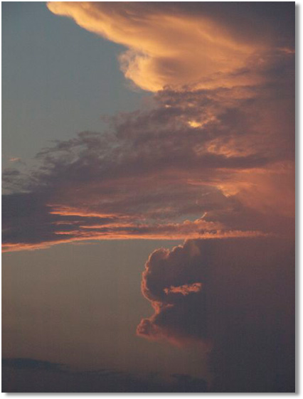 a towering thundercloud